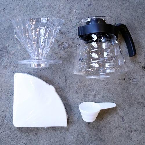 Zestaw Hario Pour Over kit - zaparzacz do kawy, filtry, serwer