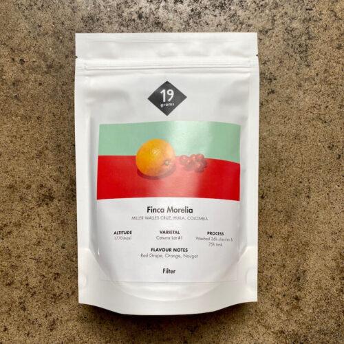 19 grams | Kolumbia Finca Morelia | kawa ziarnista speciality | Berlin | Owoce i Warzywa