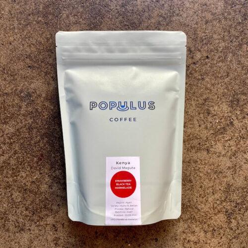 Populus Coffee | Kenya David Maguta | kawa ziarnista speciality | Owoce i Warzywa